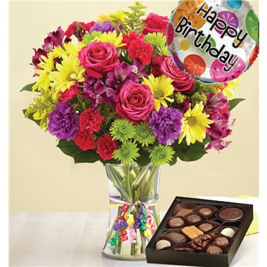 1 800 Flowers It S Your Day Bouquet Happy Birthday Chocolate